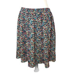 Anthropologie Floral Print Mini Chiffon Skirt M